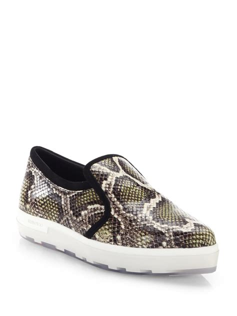 snake skin sneakers jimmy choo snakeskin embossed leather sneakers in