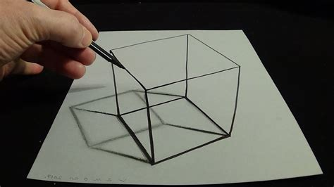 3d Drawing by Easy Ways To Draw 3d Drawings 3d Drawing A Simple Cube