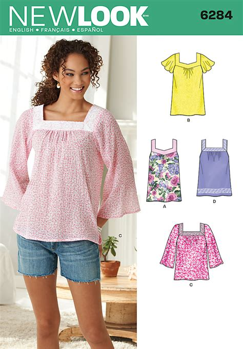 pattern review best of 2014 new look 6284 misses pullover top in two lengths