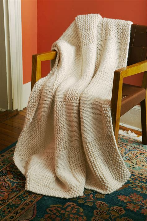 knitted basket weave afghan pattern basketweave afghan in brand wool ease thick