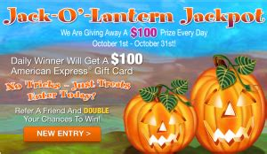 Abc Gift Cards Coupon Code - abc jack o lantern jackpot sweepstakes win a 100 american express gift card