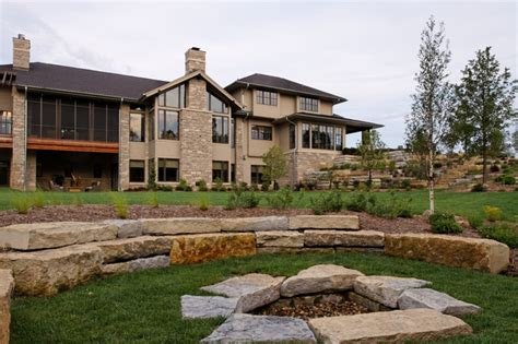 modern prairie home traditional exterior omaha by