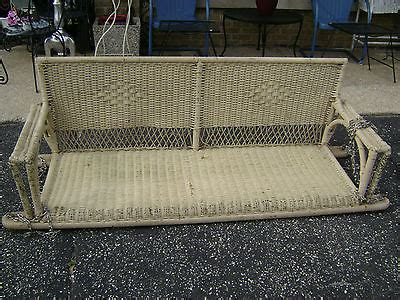 antique wicker porch swing rare original 6 ft antique 1930 s wicker porch swing 3