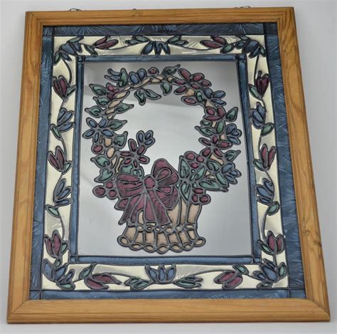 Stained Glass Decorations - stained glass style window decoration basket design wall