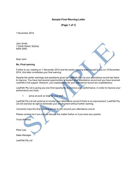 employee warning letter soap format