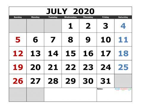 july  printable calendar template excel  image  edition  printable