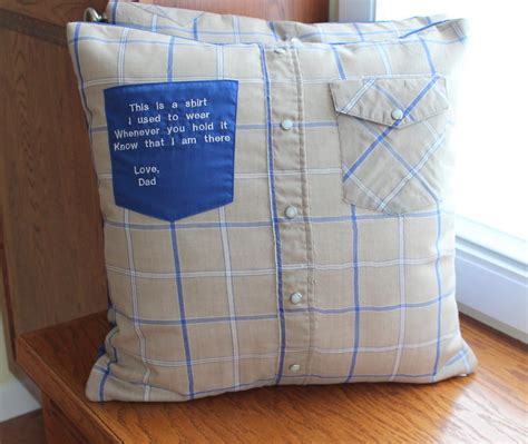 poignant memory pillow with embroidery maiden