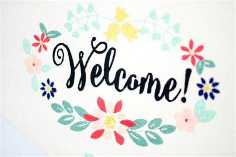 Seventeen Handbanner 1 embroidered welcome banner free sewing pattern for or machine embroidery sewcanshe