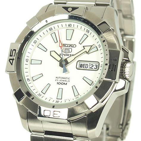 Automatic Silver List White seiko 5 sports s automatic white dive snzh09k1