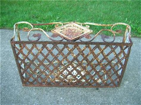 antique rustic wrought iron planter flower window box