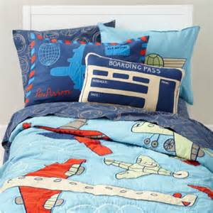 Blue Airplane Toddler Bed Furniture 5 Travel Theme Bedroom Decor Ideas