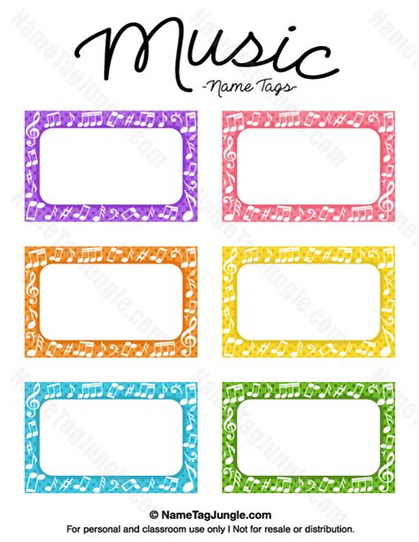 printable name labels for preschool free printable music name tags the template can also be