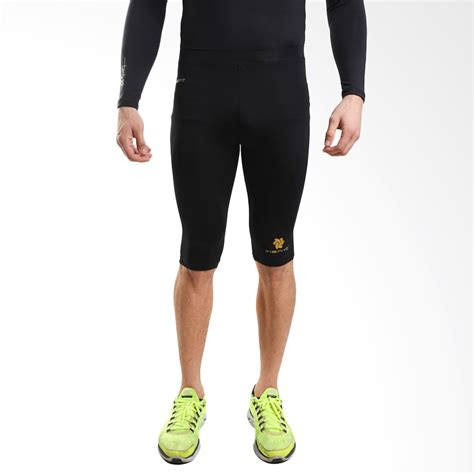 Celana Baselayer Sport 2xu tiento baselayer compression celana olahraga tight legging half black gold original elevenia