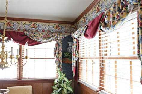 dated window treatments 1950 s brick ranch kitchen renovation reveal southern