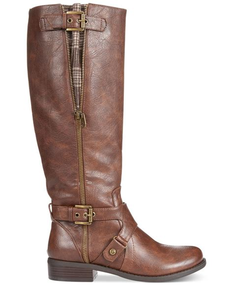 Sepatu Boots Bradleys Baldev Zipper Brown lyst g by guess s hertle shaft boots in brown