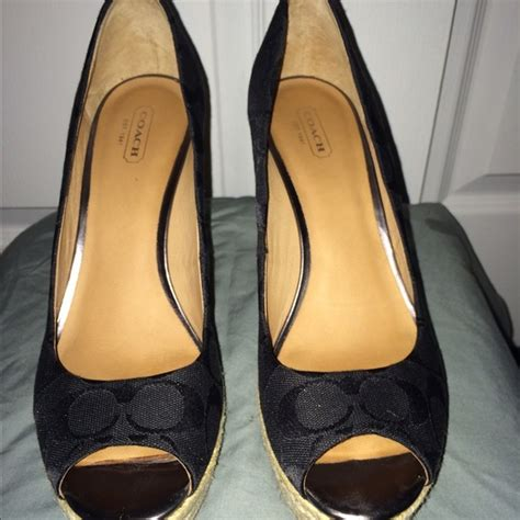 coach high heel shoes 54 coach shoes coach high heel peek a boo shoes