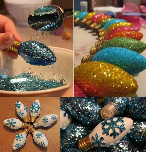 Where To Sell Used Bedroom Furniture Diy Glittered Christmas Light Bulb Ornaments Home Design