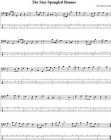 The star spangled banner bass guitar tab and sheet music