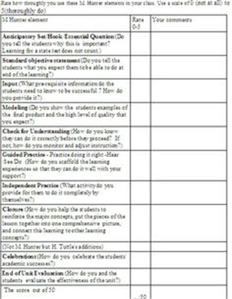 madeline hunter lesson plan template blank studyclixweb