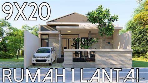 desain rumah probo hindarto remake desain rumah 1 lantai lahan 9x20m kode 39b youtube