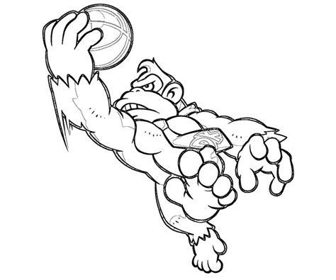 donkey kong super mario coloring pages