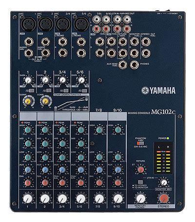 Mixing Console Yamaha Mg82cx mg102c yamaha mg102c audiofanzine