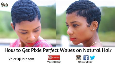 short hair cut with no relaxer how to achieve pixie perfect waves on natural hair no