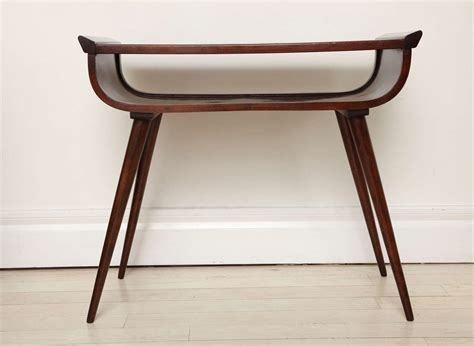mid century modern walnut console table at 1stdibs