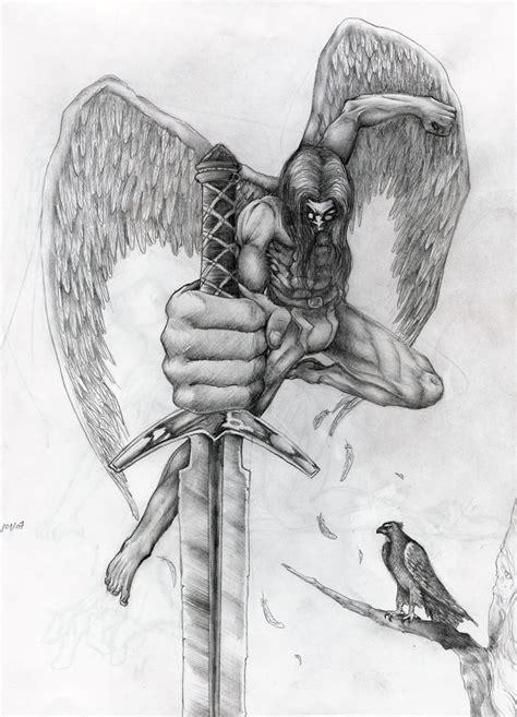 imagenes a lapiz de angeles dibujos a lapiz de angeles espada jpg quotes