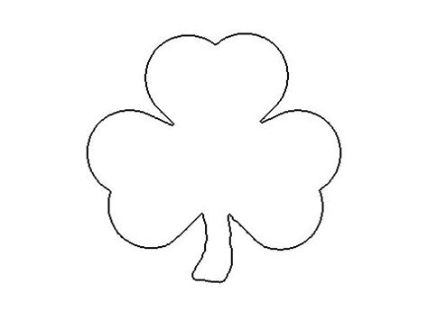 shamrock cut out template shamrock