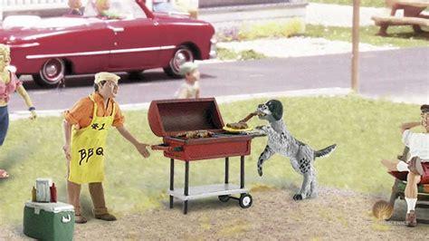 o figure o scale figures accessories backyard barbeque model