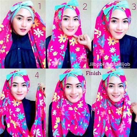 tutorial memakai hijab anak sekolah tutorial cara memakai hijab modern yang unik dan cantik
