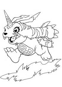 coloring page free printable digimon coloring pages for