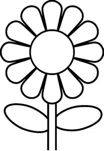 flower coloring page preschool flower coloring pages flower coloring page
