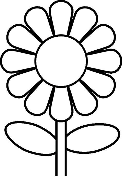 Preschool Flower Coloring Pages Flower Coloring Page