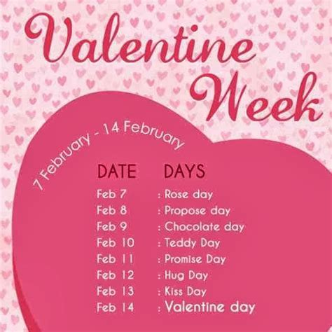 feb week week list 2018 dates schedule day propose