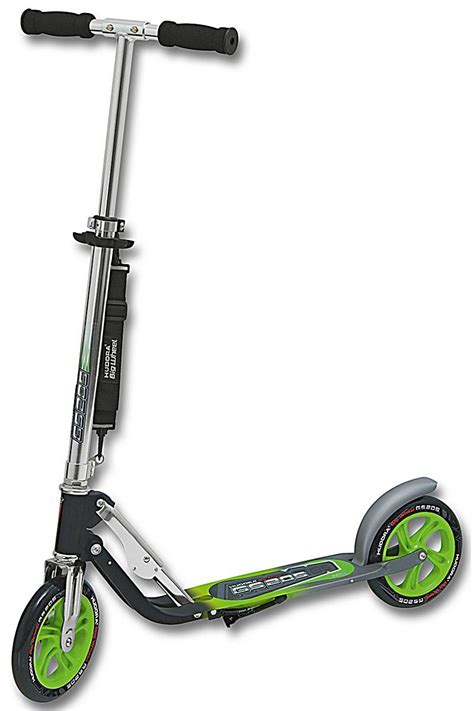 hudora scooter big wheel gs  anthrazit gruen weltbildch