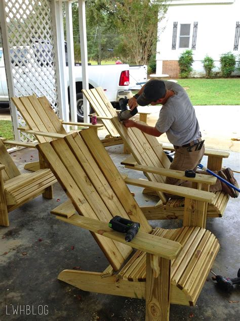 white 2x4 adirondack chair tutorial build an amazing diy pergola and firepit with