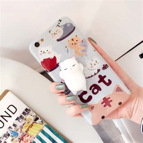 For Iphone 7 Squishy Cat Squeeze Soft Silicone C Limited 3d soft silicone squishy squeeze cat fundas cover for iphone 7 6 6s plus phone