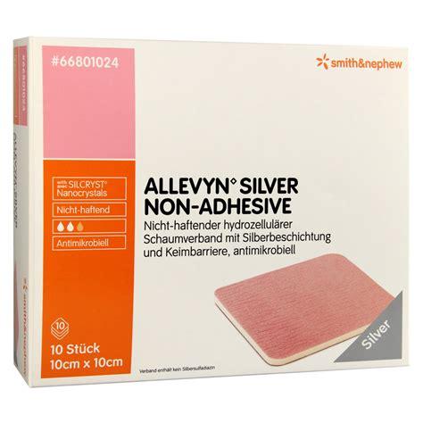 Allevyn Non Adhesive 10 Cm 20 Cm Foam Dressing allevyn silver non adhesive 10x10 cm schaumverband 10 st 252 ck bestellen medpex
