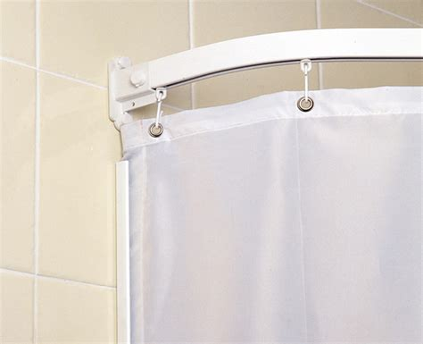 curtains on rails curtain rails and weighted shower curtains