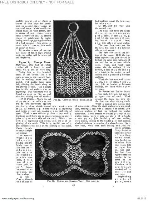 antique pattern library priscilla apl b ja034 priscilla tatting book no 2 page 36
