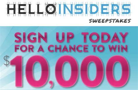 Hello Insiders Sweepstakes - helloinsiders com sweepstakes win 10 000 cash and 100 amazon gift code