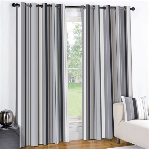 Grey Striped Curtains Modern Striped Wentworth Charcoal