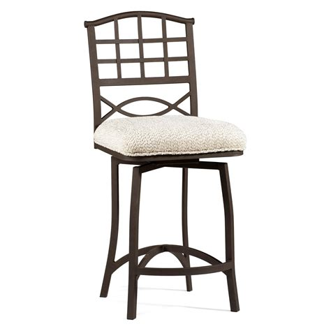 Wrought Iron Bar Stool Chintaly 30 In Wrought Iron Swivel Memory Return Bar Stool At Hayneedle