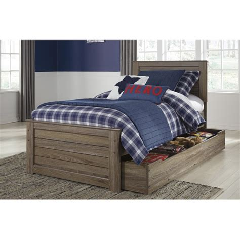 twin bed ashley furniture ashley javarin twin panel bed with trundle in grayish