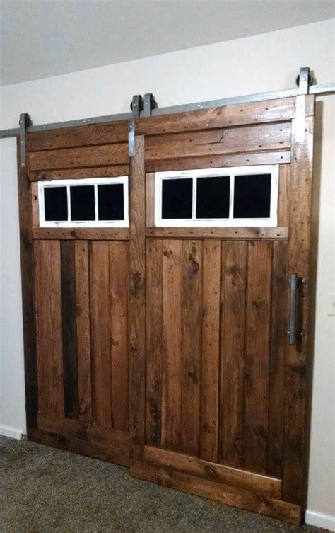Bypass Sliding Barn Door Hardware Kit With Track System For 2 Bypass Barn Door Hardware System