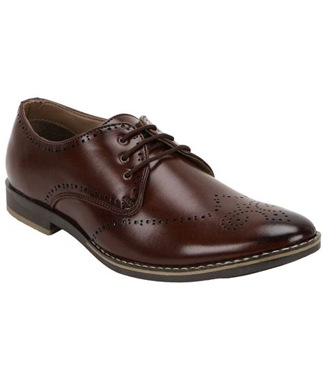 Leather Formal Shoes Maroon buy striker maroon synthetic leather casual shoes for snapdeal