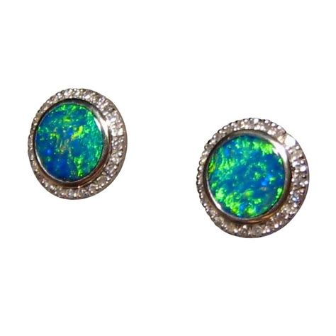 green opal earrings green opal earrings 14k opal earrings