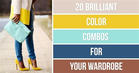 color combinations for clothes 20 brilliant color combos for your wardrobe